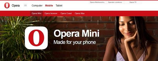 ओपेरा मिनी मोबाइल ब्राउज़र