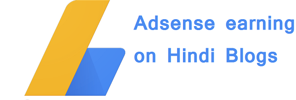 Adsense earning on Hindi Blogs