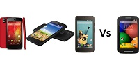 Android one Vs Moto E small